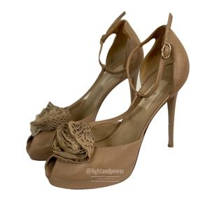 Valentino T-Strap Stiletto Platform Heel Size 39